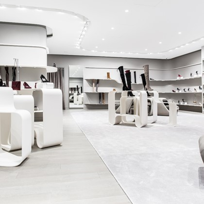 luxury white store